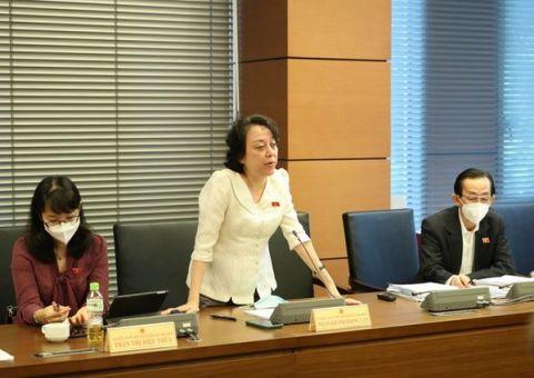 Đại biểu Quốc hội Phạm Khánh Phong Lan phát biểu tại phiên thảo luận tổ chiều 22.7.